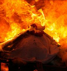 殡仪馆火化死人过程图片