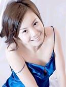 素颜美女蓝色睡衣制服图片