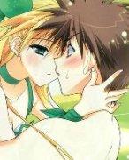 矜持的情侣在一起接吻