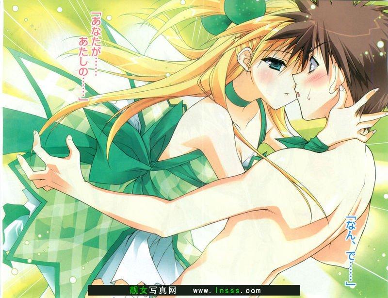 卡通情侣接吻1