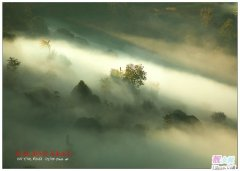 大雾天气中的大山如蓬莱仙境