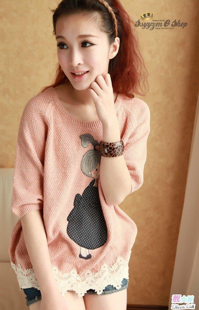 韩版针织衫1