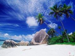 天涯海角壁纸包涵了碧海蓝天