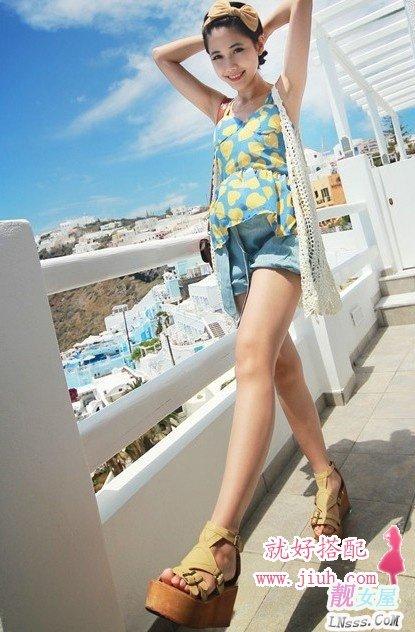 韩版女装_夏天鞋子与衣服的时尚搭配组合