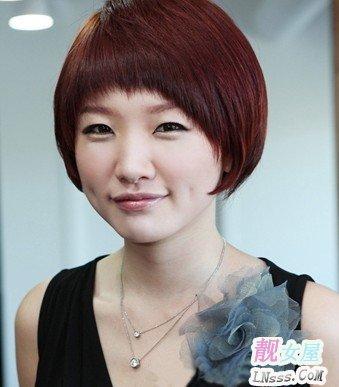 圆脸发型图片