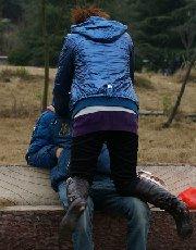 农村少年玩中年妇女